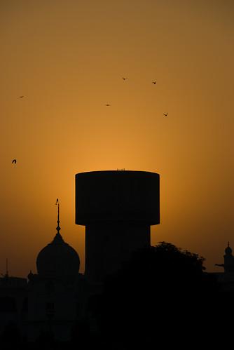 travel sky orange india silhouette vertical nikon place holy sikhs punjab amritsar sikhism 18200mm d80