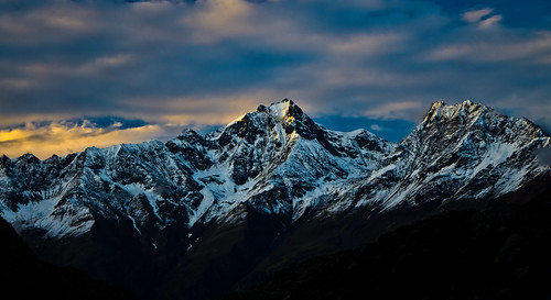 Peaks in the Great Himalayan Range, Himachal Pradesh, India