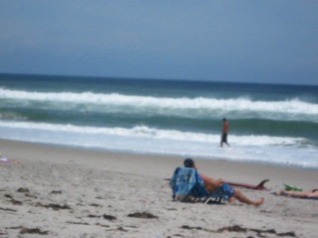 Day after Hurricane Irene --- Waves