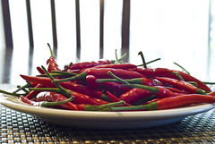 Thai Chili Peppers (a.k.a. Bird's Eye Chilis)