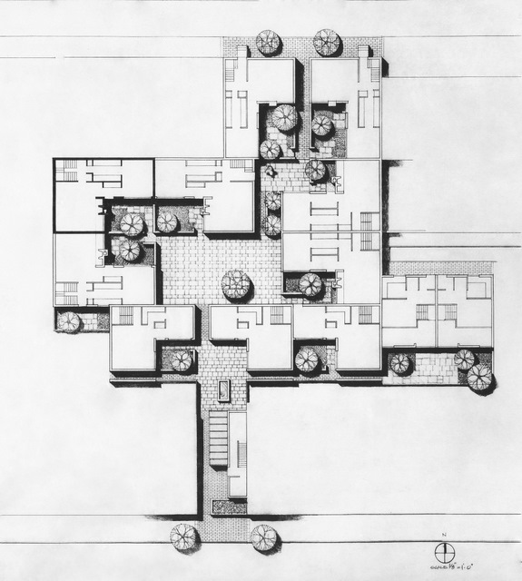 Site plan alder court philadelphia pa 1975 louis for Cout plan architecte
