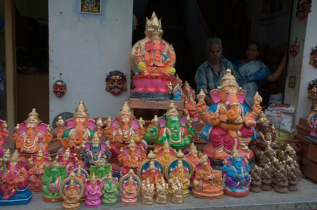 Coimbatore India elephant Ganesha Hindu deity