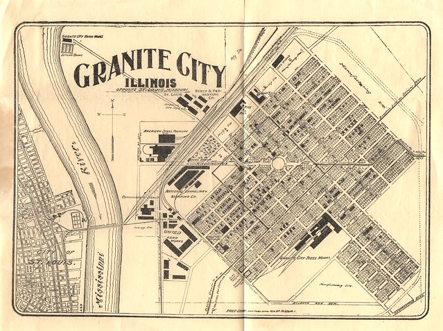 1904 Granite City Booklet Fold Out Map At End Explore