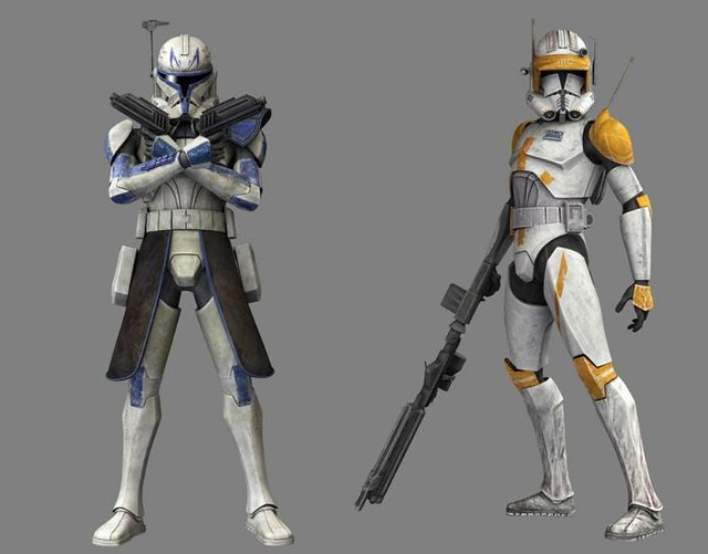 Star Wars Captain Rex and Commander Cody