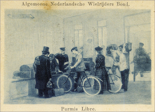 'Permis Libre', 1890s postcard, published by the Dutch ANWB