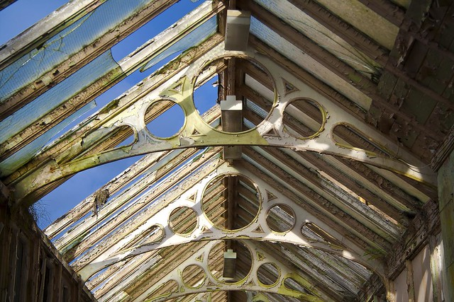 Hartwood Hospital - a close up of the glass corridor's roof