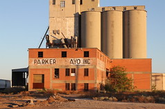Abandoned Parker & Mayo grain elevator