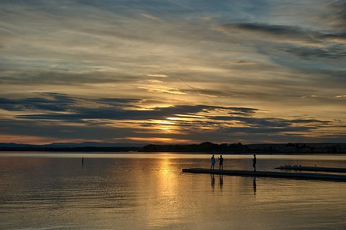sunset lake clouds dock nikon f28 105mm lakelowell nampaidaho d700