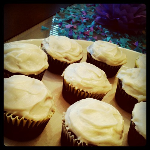 In the kitchen today: homemade cupcakes