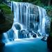 Blue Mountains Waterfall, NSW, Australia by Oli Woods.