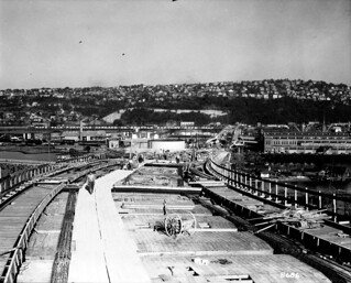Garfield Street Bridge under construction, 1930