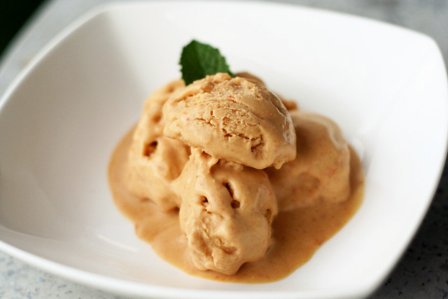 Vegan Coconut Apricot Ice Cream