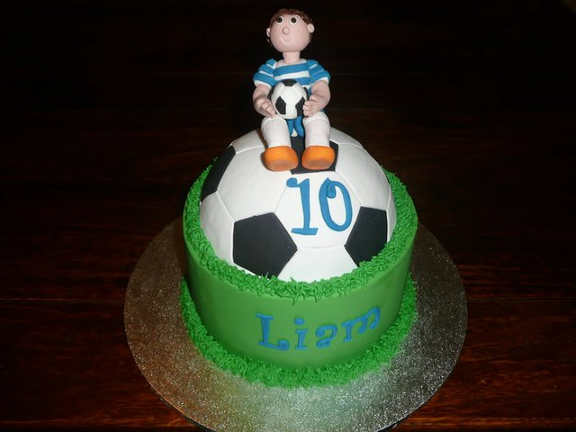 how to make a half soccer ball cake