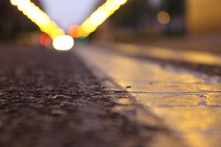 Raya y asfalto