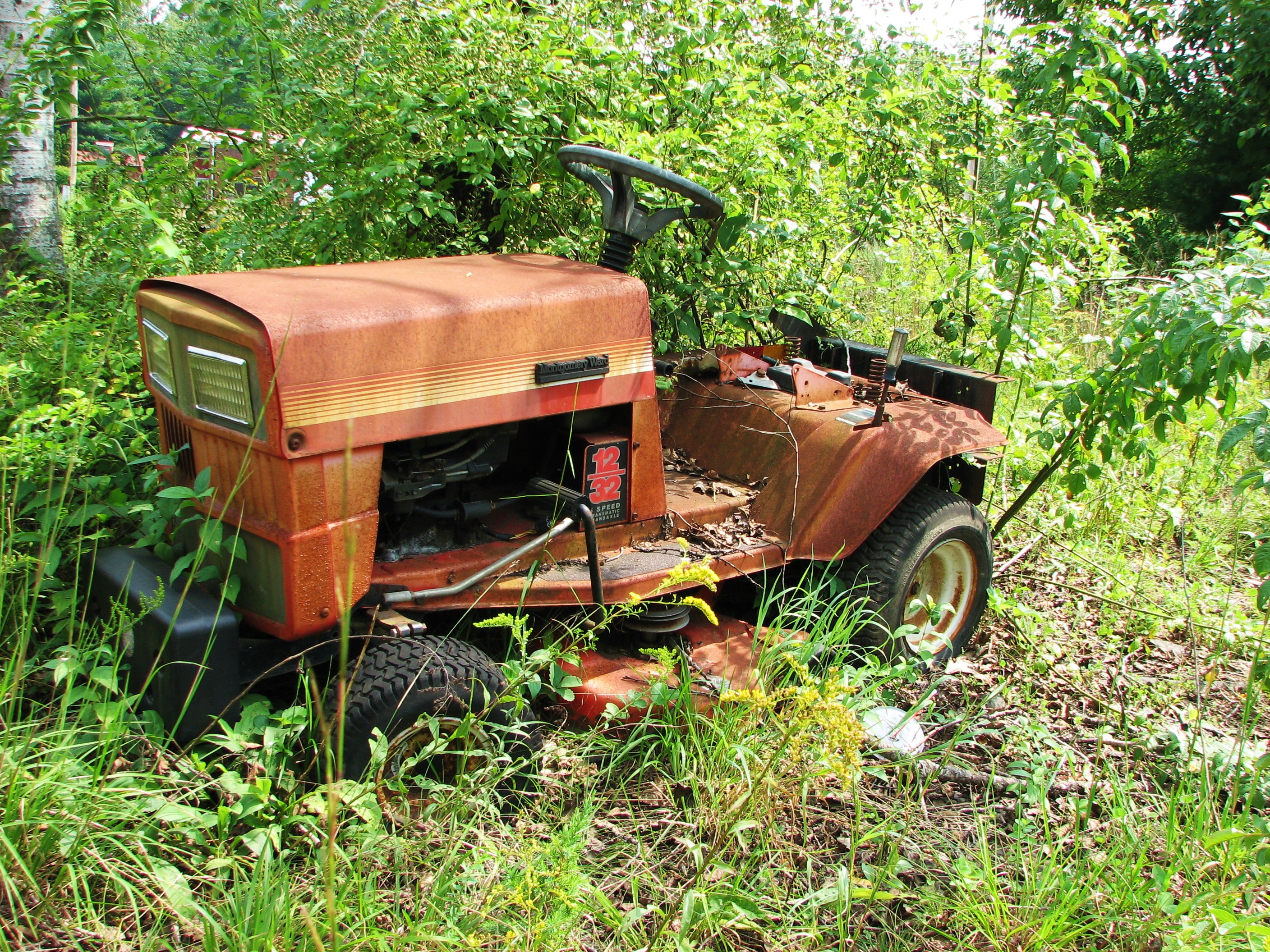 Ride on Mower abandoned to nature | Hardware/ Farm Supply ...