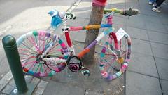 Yarn-Bombed Bicycle