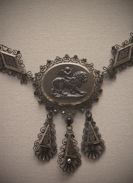 Part of Iron and steel necklace, German or French, 1820-30