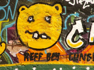 Graffiti selbst an der Akademie in Dresden beachten Sie das Leben ist ein Provisorium 030