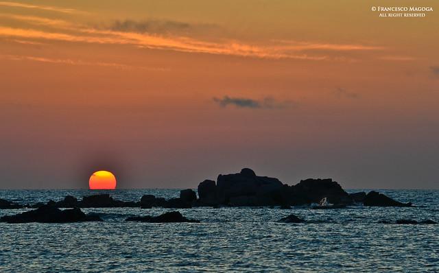 Sundown at Lu Litarroni beach