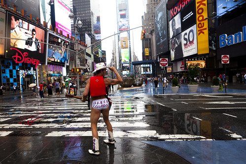 Pre-Hurricane Irene: Naked Cowboy by Dan Nguyen @ New York City