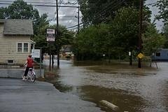 natural disaster, flood, road, residential area, disaster, street, neighbourhood,