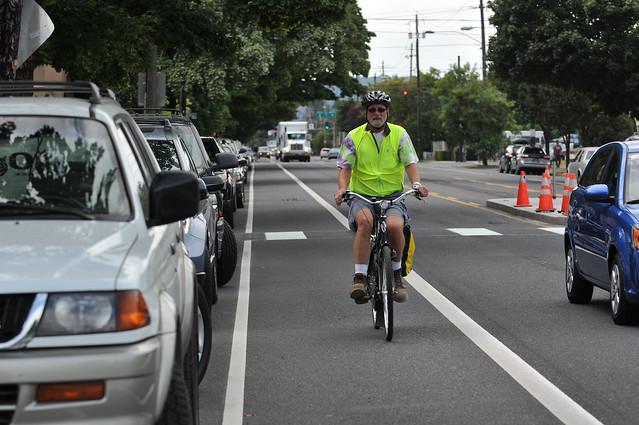 New bike lanes on N Rosa Parks Way-5