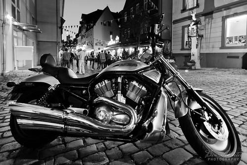 Harley Davidson b&w