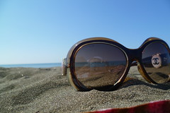 my sunglasses on the beach