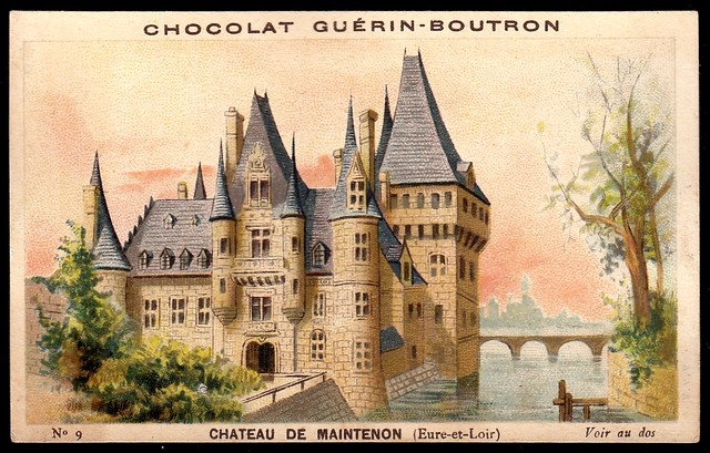 French Tradecard - Chateau de Maintenon