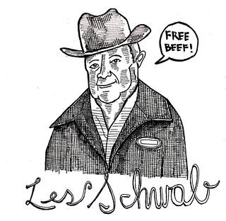 """Les Schwab Says: """"Free Beef!"""""""