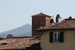 Lucca houses - view from city walls