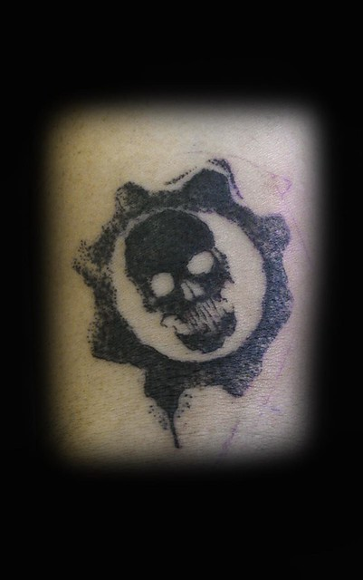 Gears of war tattoo by ray tutty flickr photo sharing for Gears of war logo tattoo