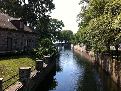 Along the picturesque Lachine Canal