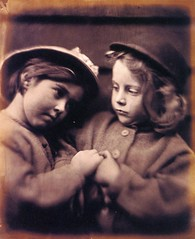 Two Little Girls Wearing Hats, 1864-5, by Julia Margaret Cameron