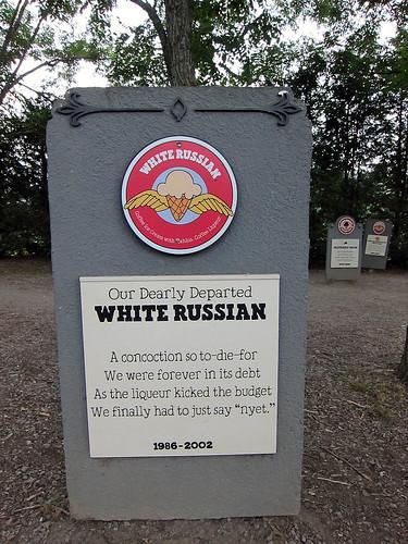 White Russian grave