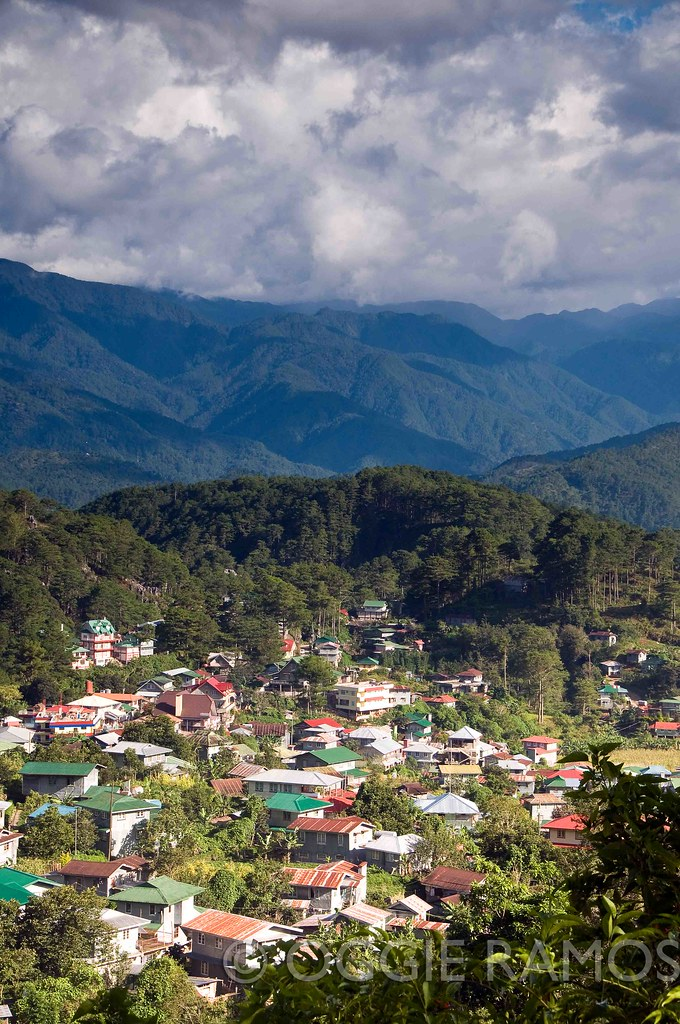 Sagada - View of the Town on the Road to Besao II