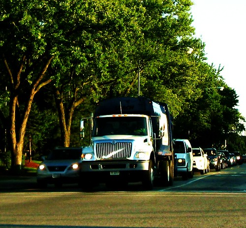 "A ""New"" Lakeshore Waste Services, International garbage truck. Niles Illinois USA. August 2011. by Eddie from Chicago"