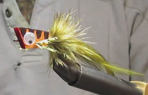 Tying a simple foam bass popper orvis news for Simple fly fishing