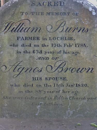 Burns Gravemarker, Alloway Auld Kirk