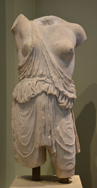 Marble statuette of an Amazon (Roman version of a Greek original of the 5th century), Ashmolean Museum