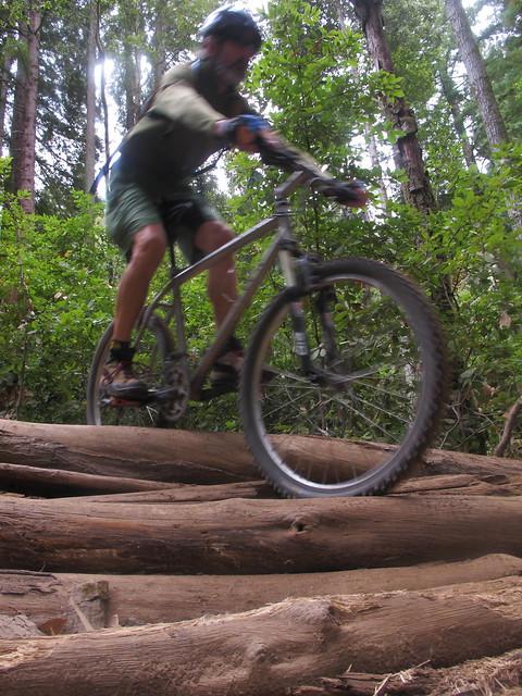 Geoff with the training wheel