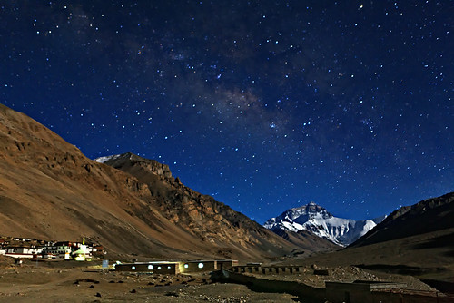 Night view at Mt Everest BaseCamp