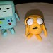 Playing with Fondant Adventure Time Beemo and Jake by .dri.