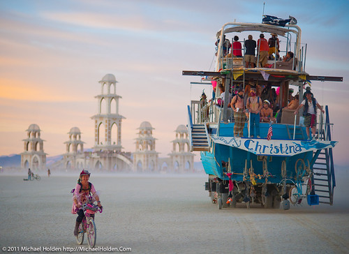 Dusty Ride at Sunset, Burning Man 2011