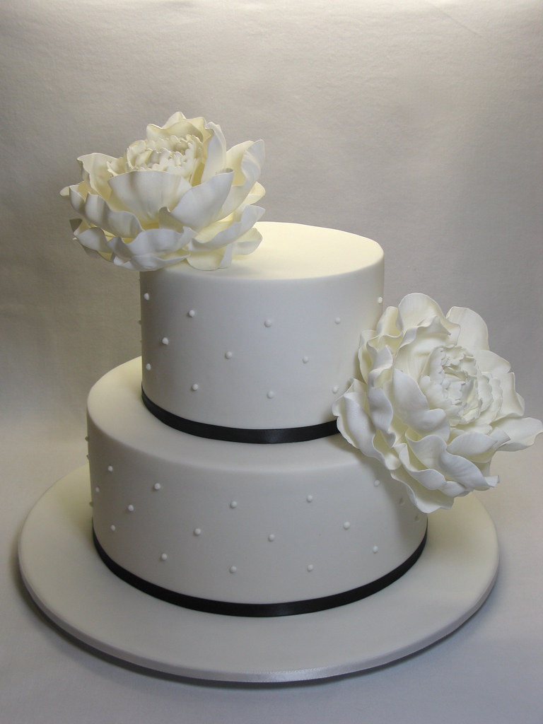 2 Tier Peony Wedding Cake A Photo On Flickriver