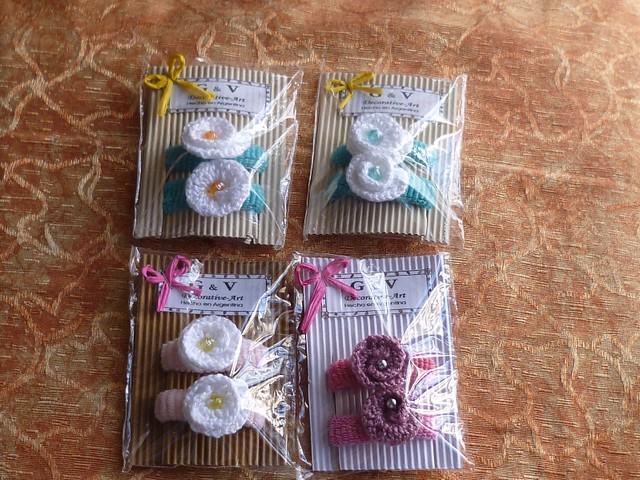 Rositas accesorios infantiles gomitas para el pelo - Detalles de ganchillo para regalar ...