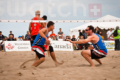 rugby union(0.0), football(0.0), beach handball(0.0), volleyball(1.0), sports(1.0), competition event(1.0), team sport(1.0), ball game(1.0), beach volleyball(1.0), tournament(1.0),