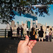 Looking Into the Past: Crowd Watching the World Trade Center Burn from the Brooklyn Promenade, September 11, 2001 by jasonepowell