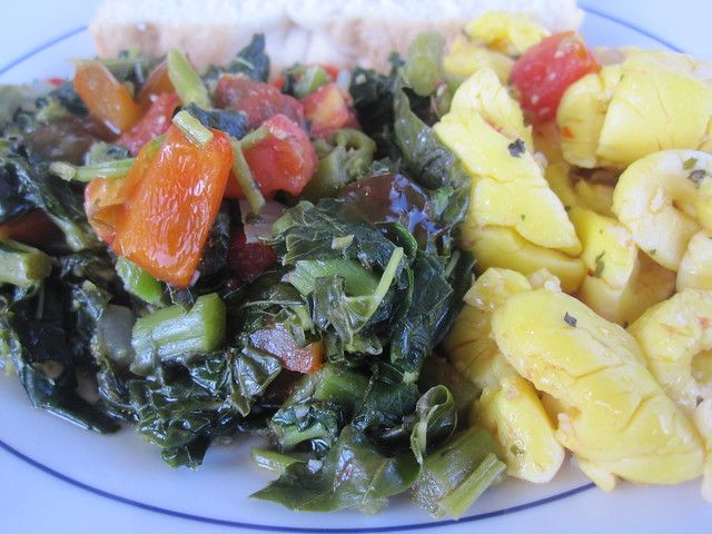 Core Connection Lifestyle Retreat Food; Jamaican callaloo and ackee