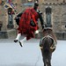 Crossed Swords Piper Jumps for Joy at the end of the Edinburgh Royal Military Tattoo by Defence Images